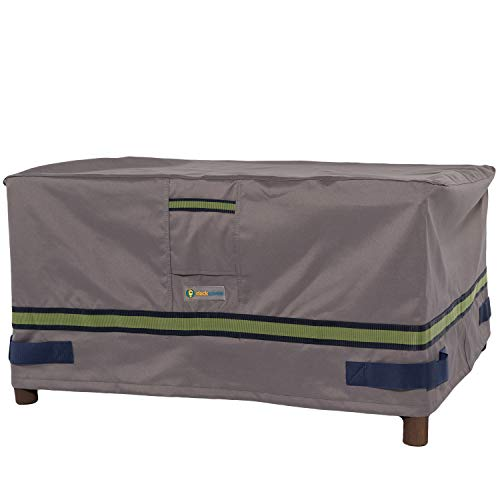 Duck Covers Soteria Waterproof 52 Inch Rectangular Patio Ottoman/Side Table Cover