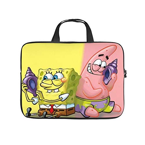 Spongebob Squarepants Patrick Holds Conch 10-13' 13-17' Neoprene Laptop Sleeve Bag Carrying,Case Premium Laptop Briefcase Fits Up to 17 Inch Water-Repellent|for Travel/Business/School/Men/Women