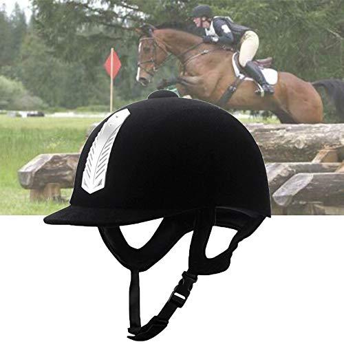 TZH Reitmütze Für Erwachsene Kinder, Reitausrüstung Reithelm Reiterhelm, Anti-Schlag-Sicherheit Kopfbedeckung Reithelm,XS