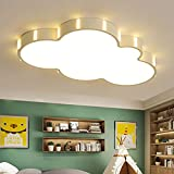 LITFAD Nordic Style Cloud Dimmable LED Flush Mount Ceiling Light Baby Room Lighting Fixture Cartoon Design Ceiling Lamp with Acrylic Lampshade in White for Girls Bedroom,Kids Room,Children Bedroom