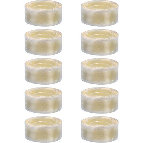 Sumind 1000 Piezas de Puntos de Pegamento de Globos Puntos Adhesivos de Doble Cara Cinta de Pegatinas para Manualidades Decoraciones de Globos de Fiesta, 10 Rollos Totalmente (100 Piezas Cada Rollo)