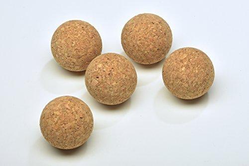 5X Korkkugeln aus 100% Naturkork - 65mm ✓ Schadstofffrei ✓ Extrem vielseitig ✓ Abwaschbar | Korkball nutzbar als leiser Kickerball, Schwimmer beim Angeln & zum Basteln