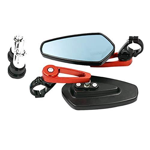 B Blesiya Espejo Retrovisor de Motocicleta, Espejo Retrovisor de Motocicleta de Aluminio CNC, Universal
