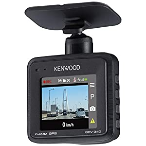 "KENWOOD ドライブレコーダー DRV-340 Full HD ノイズ対策済 夜間画像補正 LED信号対応 専用SDカード(16GB)..."""