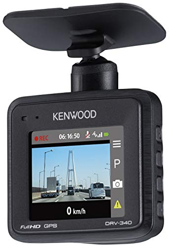 KENWOOD  ドライブレコーダー  DRV-340 Full HD ノイズ対策済 夜間画像補正 LED信号対応 専用SDカード(16GB...
