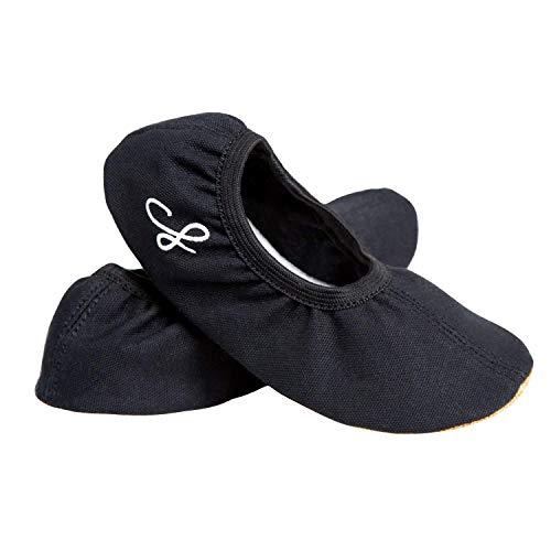 Siegertreppchen® Gymnastic Schoenen Katoen maat 26 – 35 Unisex in zwart. Gymnastiek – Training – Dans - Trampoline Schoenen
