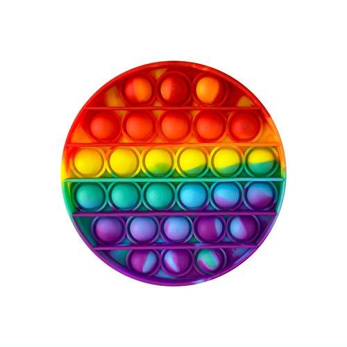 PAIDE P Push Pop Pop Bubble Juguete Antiestres. ,Relajante . Juguete sensorial, Autismo. Fidget Toy Pop it. Alivia ansiedad. Niños y Adultos. (Círculo Multicolor)