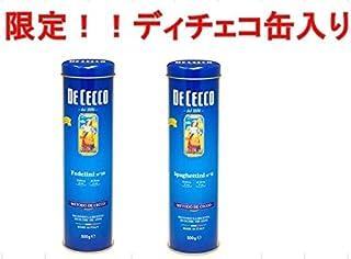 限定缶!!ディチェコ 缶入りスパゲティ 500g (スパゲティーニ1.6mm)