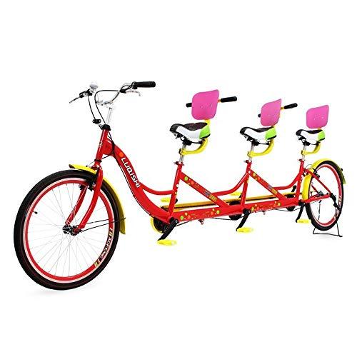 Riscko Bicicleta Tándem para Tres Personas Tan02: Amazon.es ...
