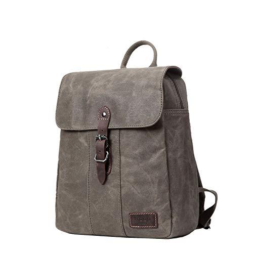 TRP0446 Troop London Heritage Canvas Rucksack, Canvas Smart Casual Daypack, Tablet Friendly Backpack
