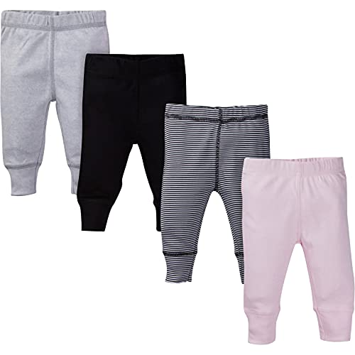 Gerber - pantalones de bebé para niña, juego de 4 unidades, Paquete de 4 pantalones., 0 - 3 meses