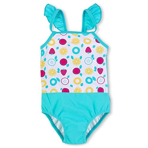 Sterntaler Mädchen Badeanzug, UV-Schutz 50+, Alter: 3-4 Jahre, Größe: 98/104, Farbe: Weiß