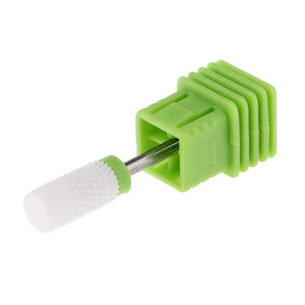 温室光メールを書くセラミック 研磨ヘッド ネイルドリルビット 電気ネイルマシン マニキュア用 全6選択 - C
