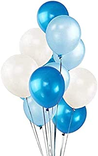 "100 Pack 12"" White & Dark Blue & Light Blue Balloons Set, Valentines Day Party Decorations, Helium Balloons Thick Latex Balloon for Carnival Festival Birthday Party Easter Mother's Day Party Supplies"