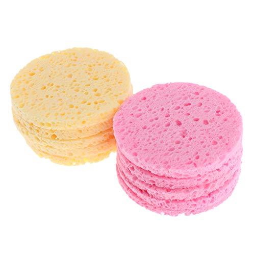 Perfeclan 10 Piezas de Almohadillas de Lavado Facial Removedor de Maquillaje Esponjas de Limpieza Soplo Exfoliante Exfoliante