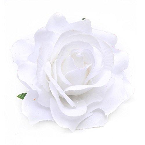 Rosenblüten-Haarspange für Damen, Haarnadel, Anstecknadel, Hochzeitsdekoration, 1 Stück, weiß, einheitsgröße