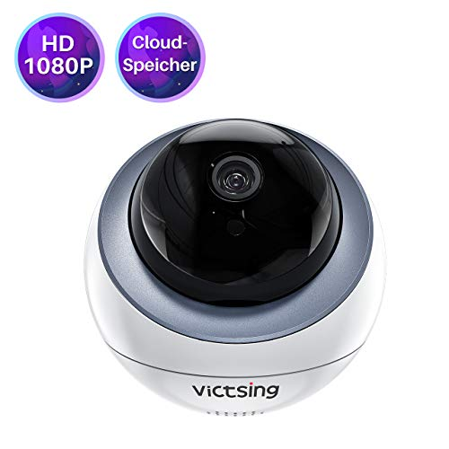 WLAN IP Kamera,VicTsing 1080P FHD WiFi Überwachungskamera,mit 355°/95° Schwenkbar, Home und Baby Monitor mit 1 Monat kostenlosem Cloud-Service,Bewegungserkennung,2 Wege Audio,Nachtsicht