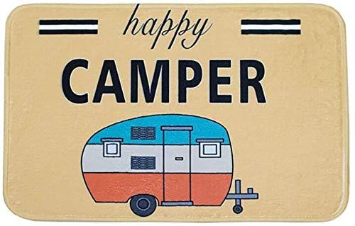 Happy Camper Camping Door Mat,Entrance Outdoor/Indoor Floor...