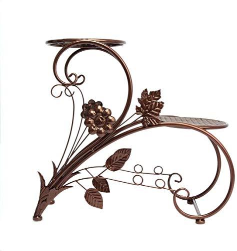 Bloemenstandaard- Indoor Flower Stand Iron Bloempot Stand Floor Plant Stand Tuin Terras Plant staander Bronze Simple-bloem Stand, Kleur: Bronze