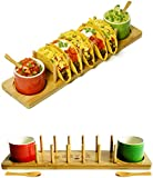 🌮 TIRED OF CHEAP-LOOKING TACO STANDS? - We are! Your new eco-friendly Taco Tuesday Taco Bar Set will be the new table star with its lovely salsa cups and spoons!. Amaze your loved ones on that perfect game night or Mexican party and get rid of that c...