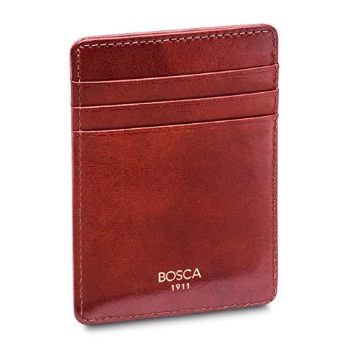 Bosca Men's Front Pocket Wallet in Cognac Old Leather - RFID