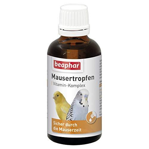beaphar Mausertropfen für Ziervögel 50 ml mit Vitamin B-Komplex