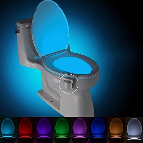 Multi-Color Motion Sensor LED Toilet Night Light, Light Detection Sensor, Cool New Fun Gadget for Him, Her, Men, Women, Birthday Kid, Funny Unique