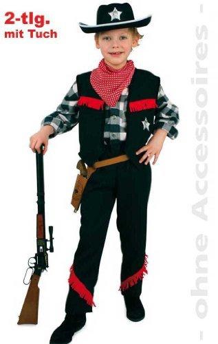 Fries 2012 Cowboy Kostüm mit Tuch Karneval Fasching Western Jungen Verkleiden: Größe: 152 by buy'n'get