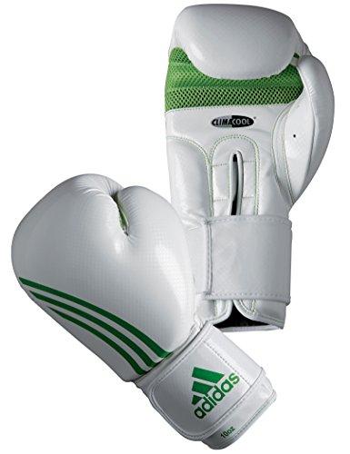 adidas Damen Boxhandschuh Box Fit, Weiß/Grün, 12 oz, ADIBL04/A-WHGR
