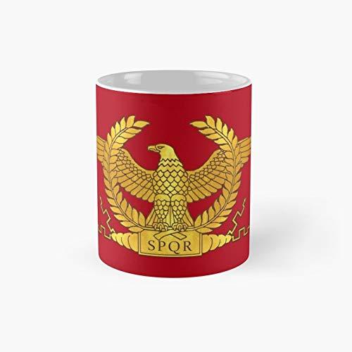 Taza clásica de águila dorada romana | Mejor regalo divertido tazas de café 11 oz