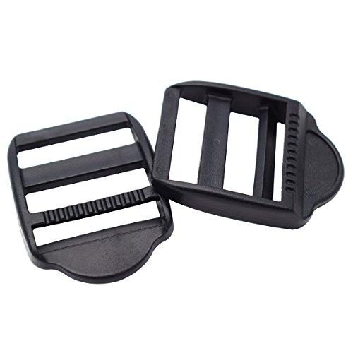 12 Pack 1 inch Plastic Ladder Slider Adjust Lock Buckles for Backpack Straps 25mm Webbing