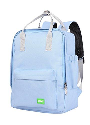 blnbag U3 - kleiner Rucksack mit Fronttasche, kleines Handgepäck Backpack für Ryanair, leichter Tagesrucksack, Daypack Damen und Herren, 10 Liter, Hellblau