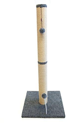 Cat Craft 16' x 16' Base Grey Fleece Jute Scratching Post, 36'