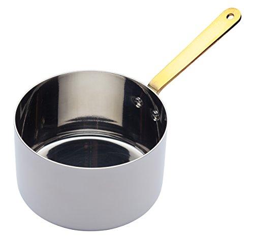 MasterClass Professional Stainless Steel Mini Saucepan / Serving Pot, 10 cm (4')
