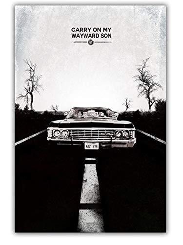 tgbhujk Supernatural SPN Jensen Ackles Mischa Collins TV Poster Wandkunst Wanddekor leinwand Kunst Poster Gemälde Für Wohnzimmer 60 * 90 Ohne Rahmen