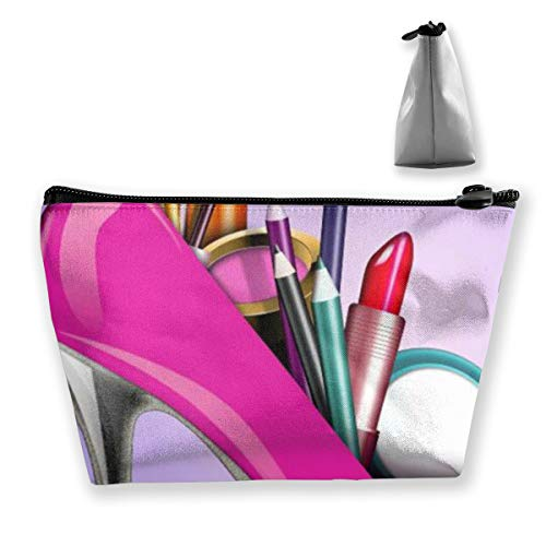 Girl Make Up High Heel Designer Make Up Bag Organizer Train Case for Women