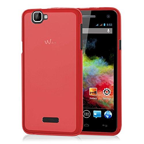 VCOMP® TPU Silikon Handy Schutzhülle für Wiko Rainbow 4G - ROT