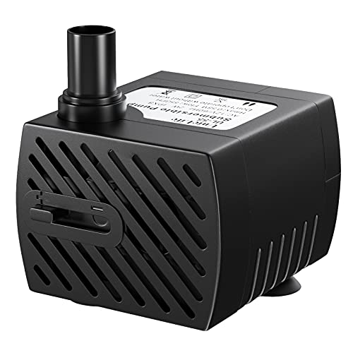 Uniclife Pet Replacement Pump for Smart Pet Fountains, 50 GPH Safe 12V Water Pump with 110V Converter Adaptor