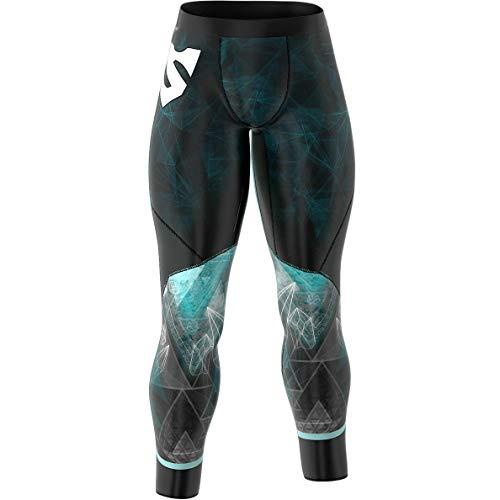 SMMASH Galaxy Sport Slim Leggins Homme Pantalon de Compression Homme pour Jogging, Training, Crossfit, Gym, Matériau Antibactérien, Vetement Musculation Homme, Fabriqué dans l'UE (XXL)