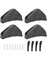 Spoiler de parachoques trasero, 4 piezas de difusor de parachoques trasero de coche Aleta Spoiler Lip Universal Auto Accesorio