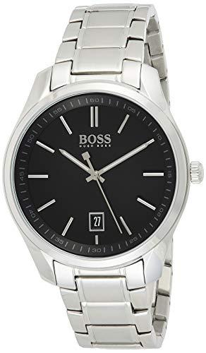 Hugo Boss Herren Analog Quartz Uhr mit Edelstahl Armband 1513730