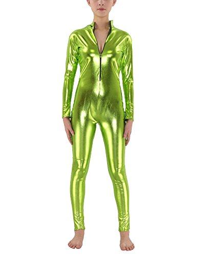 Anyu Second Skin Kostüm Ganzkörperanzug Halloween Kostüme Gras Grün XL