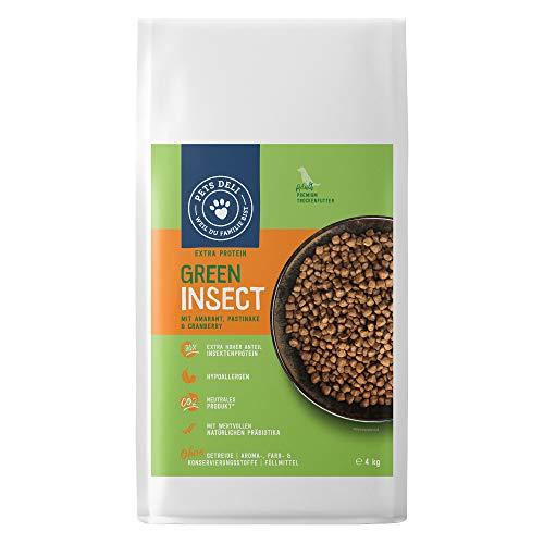 Cibo secco per cani a base di insetti con amaranto, pastinaca e mirtillo rosso 4kg - Cibo sano senza contenuto di carne   fonte proteica sostenibile per ridurre le emissioni di CO²   senza cereali