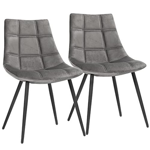 SONGMICS Esszimmerstühle 2er Set, Moderne Küchenstühle, Polsterstühle mit Metallbeinen,...