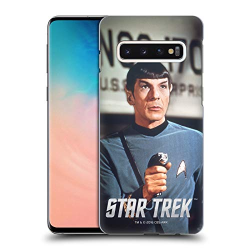 Head Case Designs Officially Licensed Star Trek Phaser Embossed Spock Hard Back Case Compatible with Samsung Galaxy S10