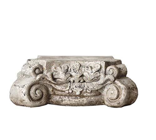 SY-Home Decoración De Estatua De Columna Romana Retro, Resina Coslin Base De Columna Artesanías Hogar Sala De Estar Jardín Decoración De Césped Adornos H6.5CM
