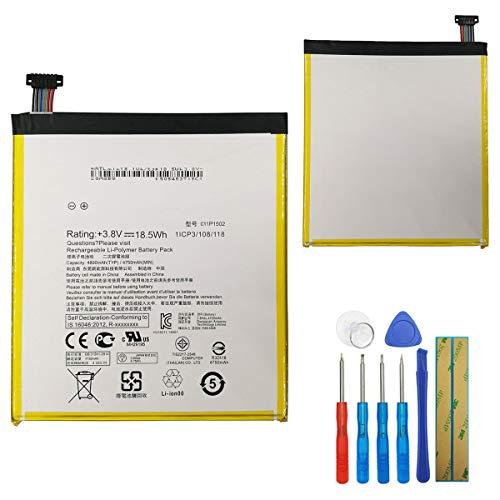 E-yiiviil - Batteria di ricambio C11P1502 compatibile con Asus ZenPad10 Z300M Z300CG Z300CL P01T 10.1 4750mAh con strumenti