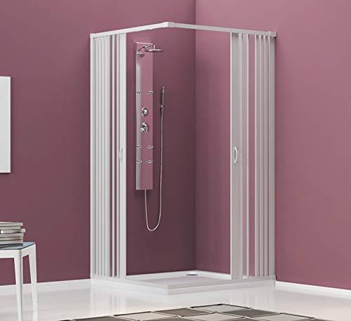 Cabina de ducha con 2 puertas, modelo Tenerife de PVC con apertura central
