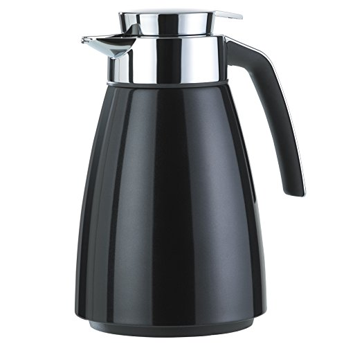Emsa 513810 thermoskan (roestvrij staal 1 liter, Aroma Diamond, Quick Tipp-sluiting, Bell) zwart
