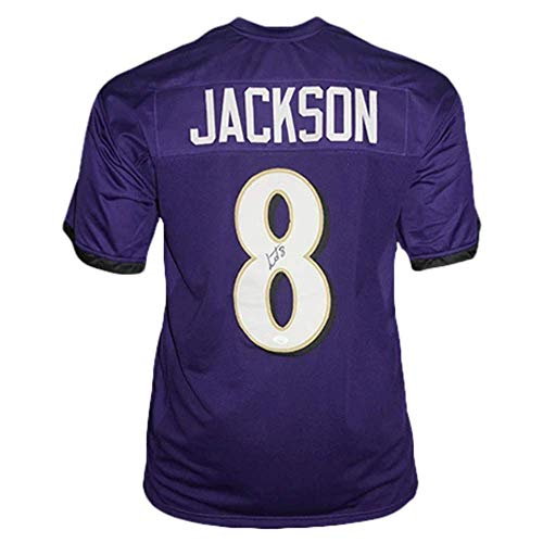 Lamar Jackson Autographed Football Jersey - Baltimore Purple Custom - Hand Signed & JSA Authenticated
